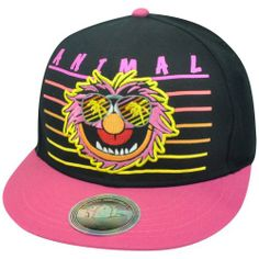 Bioworld Animal The Disney Muppets Snapback Flat Bill Constructed Hat Cap