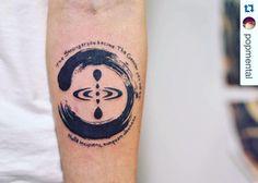 Minimalist zen tattoo, enso, blackwork tattoo