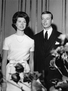 Princess Desiree of Sweden and Baron Nicolas Silfverschioeld have announced their engagement on December 19 1963 in Stockholm Sweden
