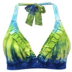 Lucky Swim Caribbean Crush Halter Bikini Top #VonMaur <- This site has so many cute swimsuits!