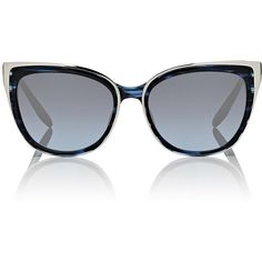38c8ae155b47 FRAMES FOR A CAUSE Women s CFDA x Barton Perreira Winette Sunglasses ( 610)  ❤ liked on Polyvore featuring accessories