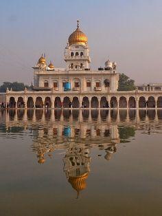 View Of Gurudwara Sikh Temple With Reflection In Water   Delhi   India   Photo By Stefan Hajdu