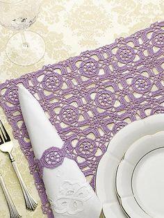 "Pattern for crochet square motif ""Renaissance Tiles"" place mat. Love Crochet, Thread Crochet, Crochet Motif, Crochet Designs, Crochet Doilies, Filet Crochet, Crochet Lace, Crochet Patterns, Crochet Home Decor"