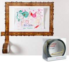 frame with patterned tape