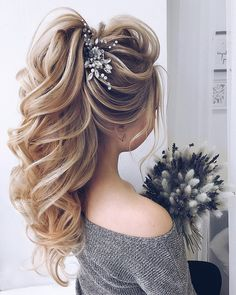 The Best and fabulous Hairstyles for Every Wedding Dress Neckline. Whether you're a summer ,winter bride or a destination bride, so make sure your hairstyle shows the pretty garment off as much as possible. Here you'll find a round-up of hairstyles that complement each wedding dress neckline. #weddinghairstyles
