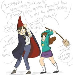 gravity falls and over the garden wall crossover - Google Search