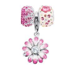 Expressions for Helzberg® Smart Value Pink Crystal & Flower Bead Set