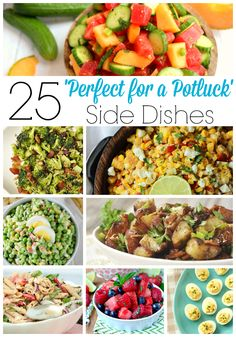 25 Perfect for a Potluck Side Dishes - Your Homebased Mom Potluck Side Dishes, Potluck Recipes, Side Dish Recipes, Cooking Recipes, Healthy Recipes, Potluck Meals, Dishes Recipes, Party Recipes, Bread Recipes