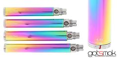 """I don't usually post eGo batteries very often. But than again... this Rainbow eGo-C Twist isn't your average twist battery. =) I gotta say... this """"rainbow"""" color scheme looks pretty nice. It almost looks like a stainless steel version that's been heat treated. And you can't complain about the price either. http://gotsmok.com"""