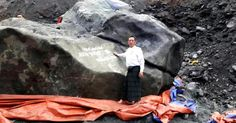 Giant Jade Stone Worth $170 Million Unearthed in Burma   Geology IN