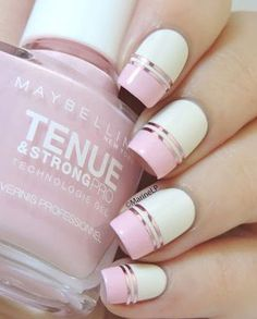 Barry M Coconut + Maybelline Pink in the Park