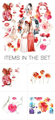 """""""RED ZONE"""" by askriiid ❤ liked on Polyvore featuring arte"""