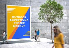 Friends, here's a free outdoor advertising billboard PSD mockup to showcase your upcoming advertising