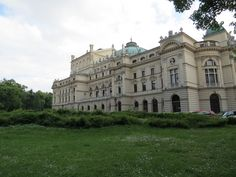 The opera house...one of many...but the main one. Used as a Nazi storage facility during WWII...it was not destroyed during the war...in fact...Krakow was never bombed during the war...even though it was the headquarters of the German Generalgovernment in the East