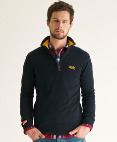 The Superdry Henley Regatta, deep sea blue.