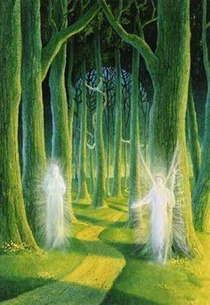 Mystical Forest, Forest Fairy, Fantasy World, Fantasy Art, Spiritual Pictures, Dragons, Elves And Fairies, Witch Art, Visionary Art