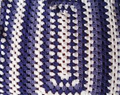 Purple Crocheted Rectangle Granny Square by TimeForCrochet on Etsy, $40.00
