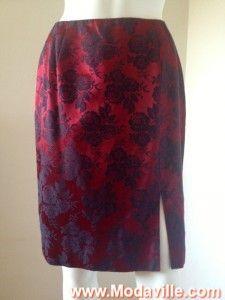 Hugo Buscati floral print on red pencil skirt http://www.modaville.com/store/shop/all/hugo-buscati-floral-print-on-red-skirt/