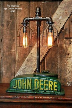 Steampunk Lamp Industrial Machine Age Steam Tractor Light John Deere Farm Gear