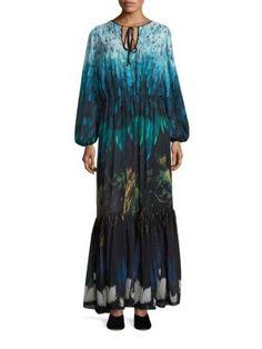 ROMANCE WAS BORN Tail Feather Chiffon Gown. #romancewasborn #cloth #gown