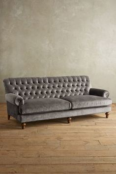 """Anthropologie Brussels Velvet Fan Pleat Sofa <a class=""""pintag searchlink"""" data-query=""""%23anthroregistry"""" data-type=""""hashtag"""" href=""""/search/?q=%23anthroregistry&rs=hashtag"""" rel=""""nofollow"""" title=""""#anthroregistry search Pinterest"""">#anthroregistry</a>"""