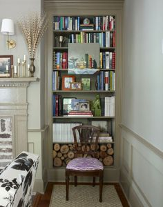 Modern Country Style: Case Study: Farrow and Ball Mouse's Back Click through for details.