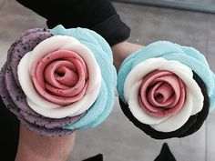 Blueberry, Cotton Candy, Vanilla, and Strawberry Ice Cream Roses