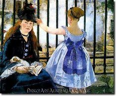 Manet   The Railway - Direct Art Australia,  Price: $199.00,  Availability: Delivery 10 - 14 days,  Shipping: Free Shipping,  Minimum Size: 50 x 60 cm,  Maximum Size : 100 x 150 cm,  100% Hand Painted Oil Paintings on Canvas!  www.directartaustralia.com.au/