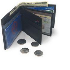 3bddbf589e Casaba Genuine Leather Bifold Wallets Cash Slots ID Coin Key Pocket Mens  Womens