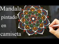 Como mandalas de pintura com acrílicos No. 7 - Camisa mandala - YouTube