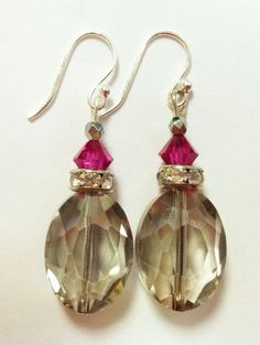 Bridesmaid Earrings Easy Drop Earrings (Tutorial) Fairly Crafty - Crafting For Holidays Simple Earrings, Crystal Earrings, Beaded Earrings, Earrings Handmade, Handmade Jewelry, Wire Jewelry, Jewelry Crafts, Jewellery, Jewelry Ideas
