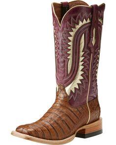 eaeaa6dcc80 Ariat Men s Silverado Brown Caiman Cowboy Boots - Square Toe