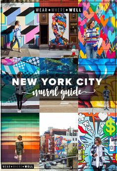 Wear + Where + Well : check out our NYC mural guide for Soho, Nolita, and Chinatown. So much art, so much color, so much happiness! Street art in New York City. New York City Vacation, New York City Travel, New City, London Travel, New York Shopping, Times Square, Soho, Brooklyn Bridge, New York Bucket List