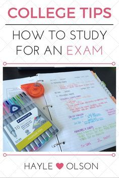 Ace your next exam with these helpful tips! Here is a step-by-step guide showing you how to study for an exam!! Click to read more, or pin to read later :) Find my blog at www.hayleolson.com Online College, Education College, College Courses, Physical Education, College Hacks, College Life, College Agenda, College Test, College Memes
