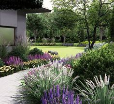 59 Ideas Landscape Garden Design Back Yards Outdoor Spaces Landscaping A Slope, Landscaping With Rocks, Modern Landscaping, Landscaping Ideas, Back Gardens, Outdoor Gardens, Country Cottage Garden, Back Garden Design, Sloped Garden