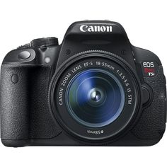 Canon - EOS Rebel T5i DSLR Camera with 18-55mm IS STM Lens - Black - Front Zoom