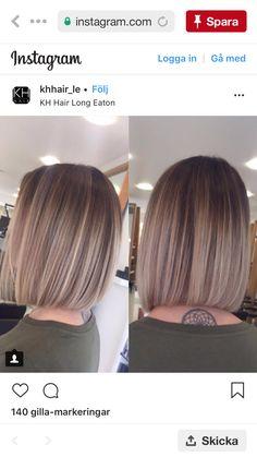Hair Color Shades, Hair Color And Cut, Hair Dye Colors, Beige Hair Color, Dyed Blonde Hair, Ombre Hair, Balayage Hair, Chic Short Hair, Short Straight Hair