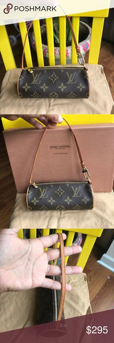 Louis Vuitton Mini Papillon Accessory Pouch. ❤❤ In beautiful condition. Minimal signs of wear. Patina is barely starting to show. Clean Inside and outside. Canvas is in awesome condition as well. This was part of a Papillon set. There is no date code. Most Mini Papillon accessories have no date code on them. Authentic guaranteed. ❌❌NO TRADES❌❌No box and no dustbag. Louis Vuitton Bags Hobos