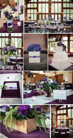 Rich purple venue styling ideas