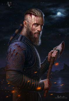 Ragnar Lothbrok - Vikings by Greg-Opalinski.deviantart.com on @deviantART
