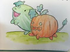 Latest tube commute painting, soon to be available in [my store|www.redbubble.com/people/alan2903]  #stevenuniverse  #pumpkindog #watermelondog #pumpkin #watermelon #watercolour #watercolor #watercolourpencils #watercolorpencils #dog #fanart #art #painting #paint #cute #illustration #cartoon #su #suwatermelondog #supumpkindog #healingspit