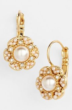 kate spade new york 'park floral' drop earrings available at #Nordstrom