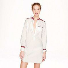 J.Crew embroidered tunic.