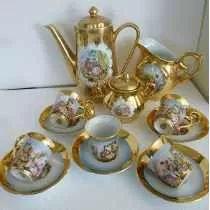 Jogo De Cafe Em Porcelana Dp