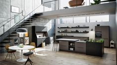 30 Modern German Interior Design Styles Are Here! - The in Design Interior House - Inspiration for Your HOME! Kitchen Sideboard, Kitchen Furniture, Kitchen Interior, Modern Interior, Casa Hipster, Küchen Design, House Design, Design Styles, Design Ideas