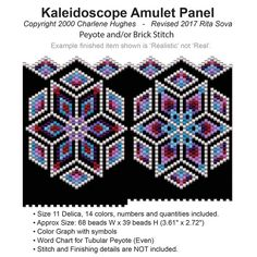 Kaleidoscope Amulet Panel | Bead-Patterns.com
