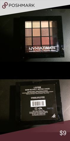 NEW Warm Neutrals NYX Eyeshadow Palette New unopened, NYX warm neutrals Eyeshadow Palette. I love these Eyeshadow! Rich pigment, long lasting, yet blends wonderfully!  I put together my favorites packages for my clients, and often have extra products that I sell on here! I price my items lower to accommodate for shipping. I'm open to reasonable offers, especially if you're bundling with other items - you'll pay the same in shipping if you buy one or multiple items from my closet!💚 NYX…