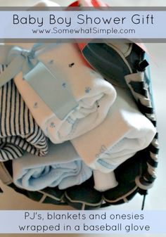 Need a boy baby shower gift? This idea is so perfect! Via Somewhat Simple