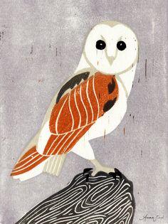 Barn Owl by Anna See on Artfully Walls