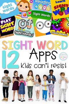 Looking for a way to help kids learn sight words? You will want to download these sight word apps on your device. Kids can't resist these interactive and fun sight words apps that are perfect for learning to read. Includes teacher tips for using apps in the classroom. #sightwords #sightwordapps #sightwordactivities #appsforkids